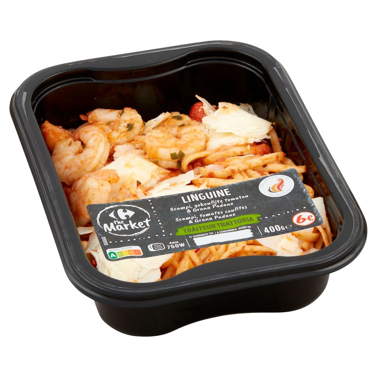 Carrefour Linguine Scampi Tomates Confites & Grana Padano 400 g