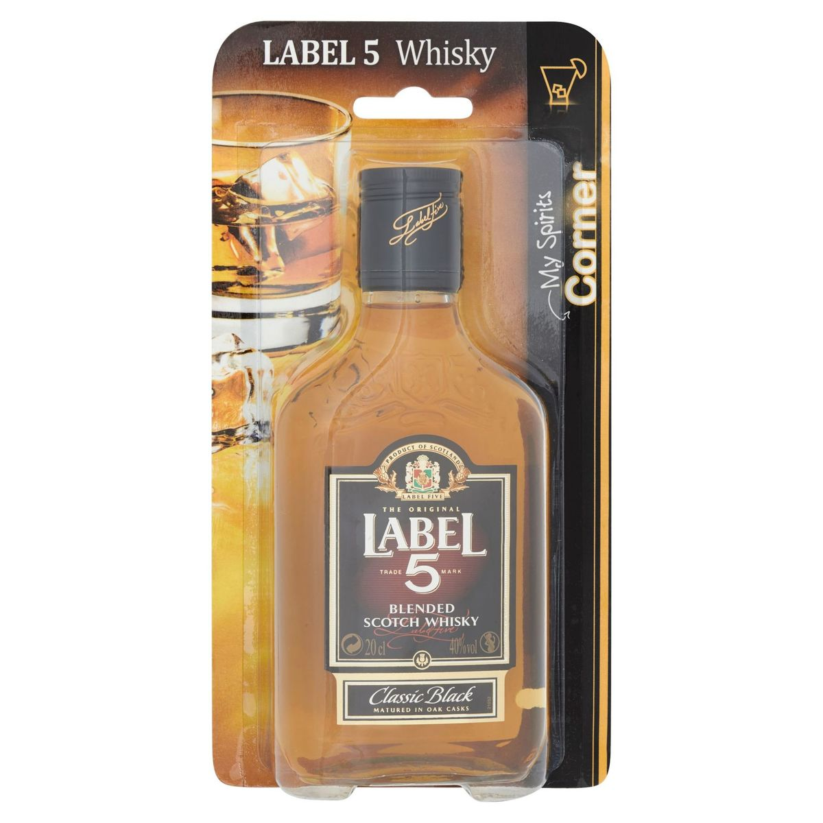 Label 5 Blended Scotch Whisky Classic Black 20 cl