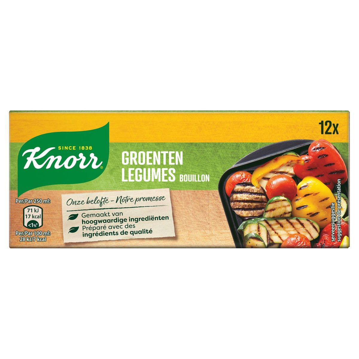 Knorr Original Bouillon Groenten 12 Bouillonblokjes 12 x 10 g
