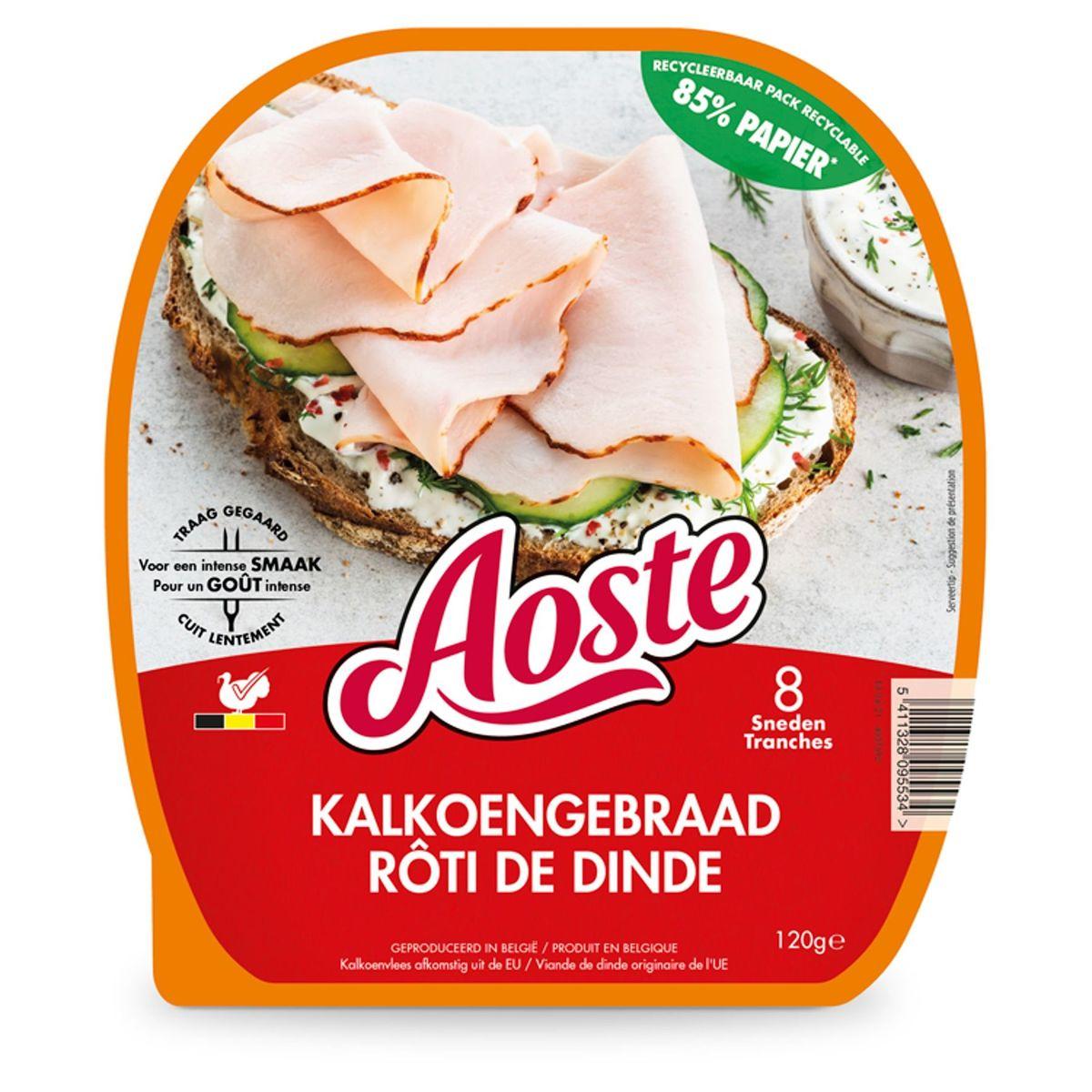 Aoste Rôti de Dinde 8 Tranches 120 g