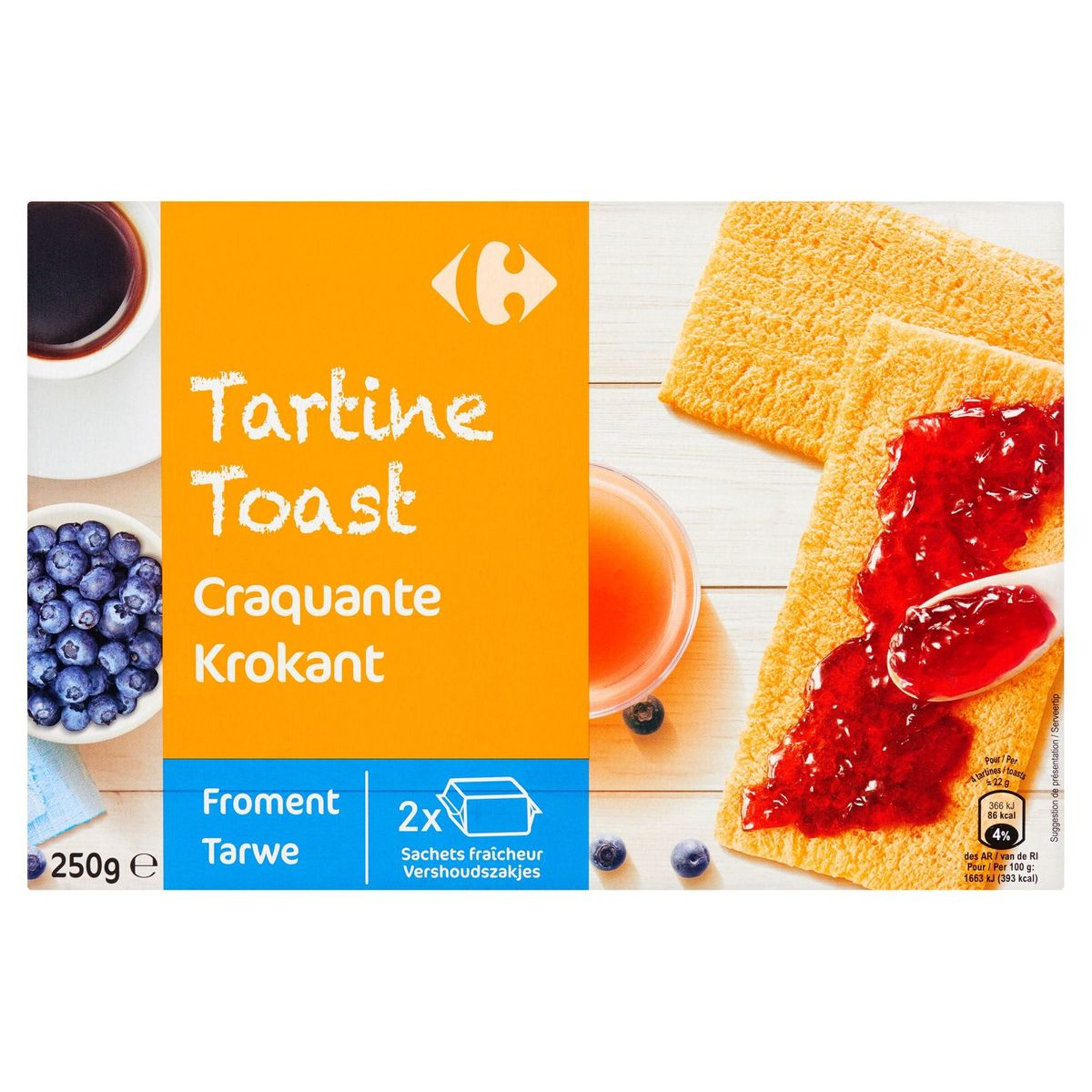Carrefour Tartine Froment 250 g