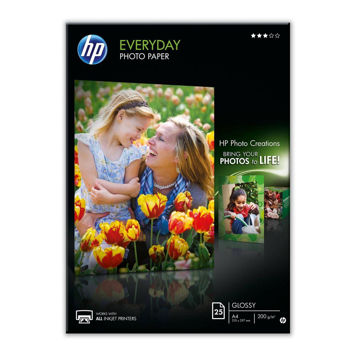 HP - Papier voor inkjetprinter Q5451A Glanzend 25 vellen A4