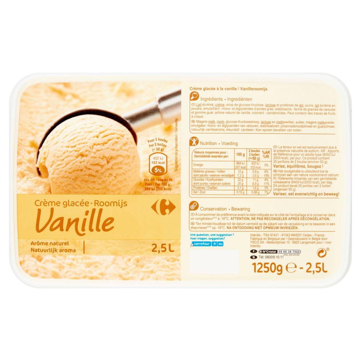 Carrefour Roomijs Vanille 1250 g