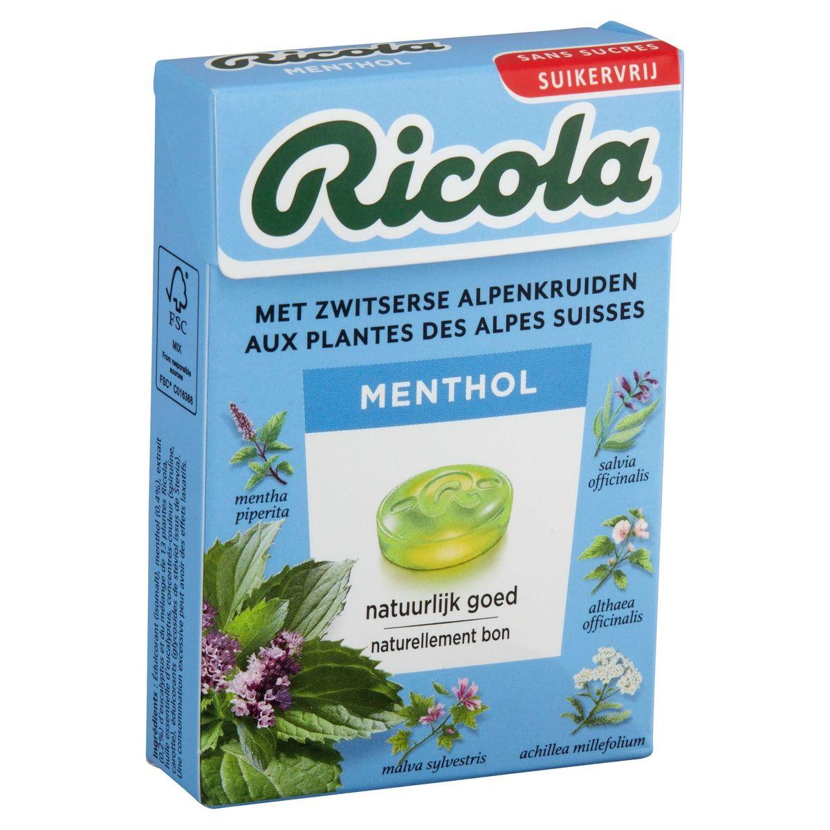 Ricola Menthol Kruidenpastilles 50 g