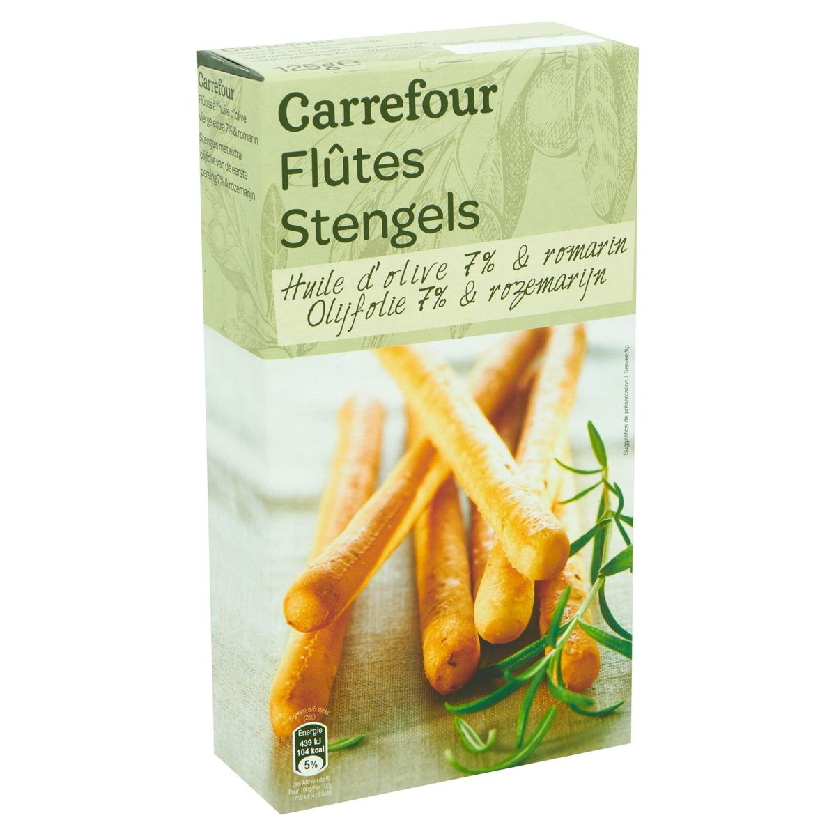 Carrefour Flûtes Huile d'Olive 7% & Romarin 125 g