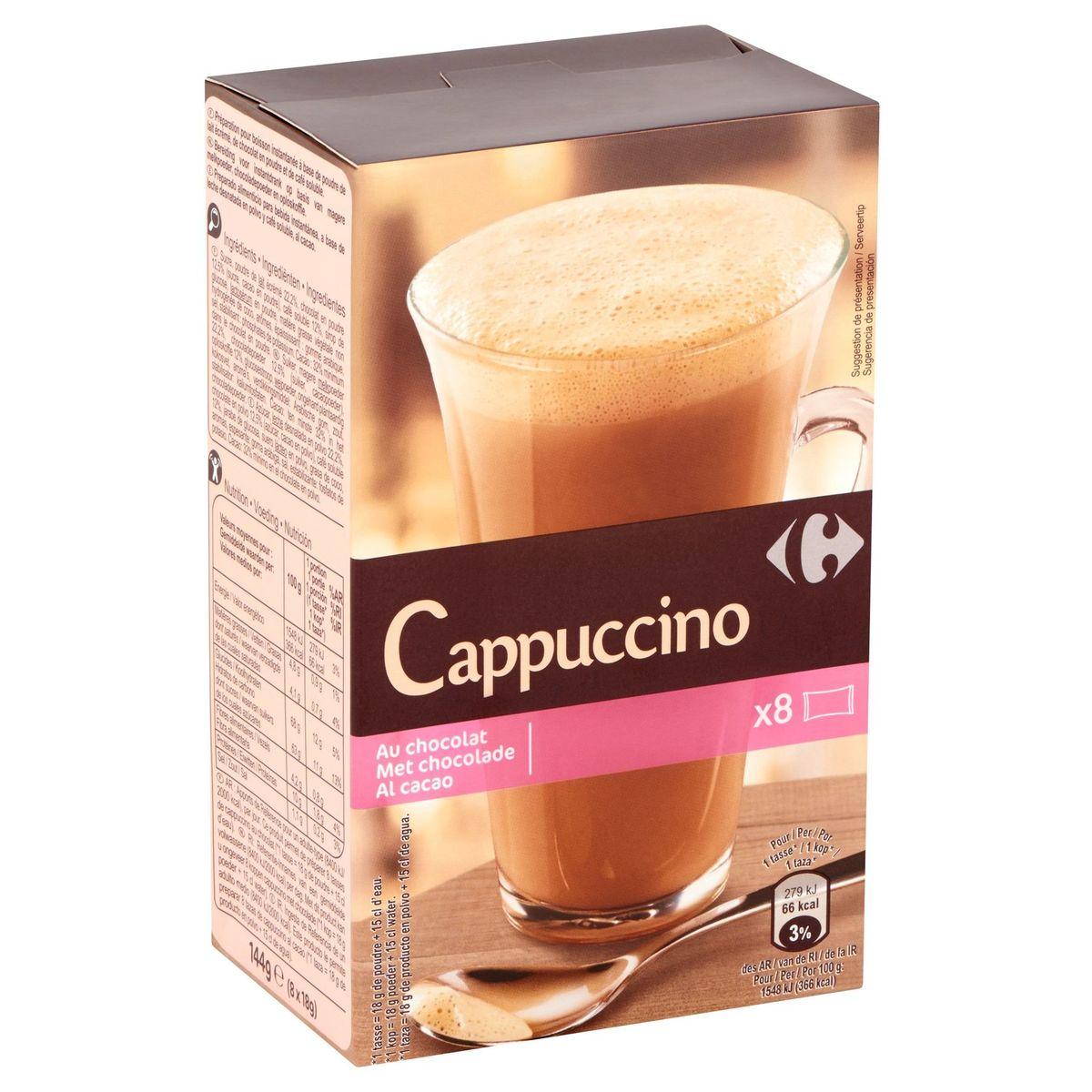 Carrefour Cappuccino au Chocolat 8 x 18 g