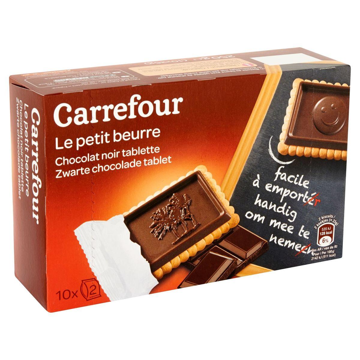 Carrefour Le Petit Beurre Chocolat Noir Tablette 10 x 25 g