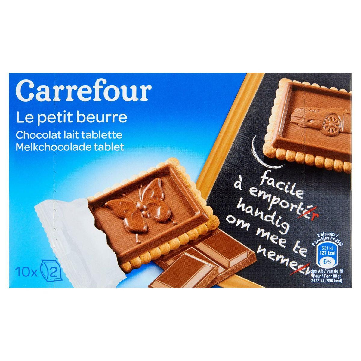 Carrefour Le Petit Beurre Chocolat Lait Tablette 10 x 25 g