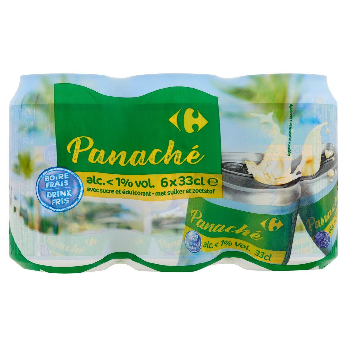 Carrefour Panaché Alc. <1% Vol. Canettes 6 x 33 cl