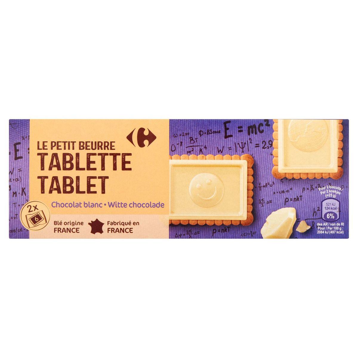 Carrefour le Petit Beurre Tablette Chocolat Blanc 2 x 6 Pièces 150 g