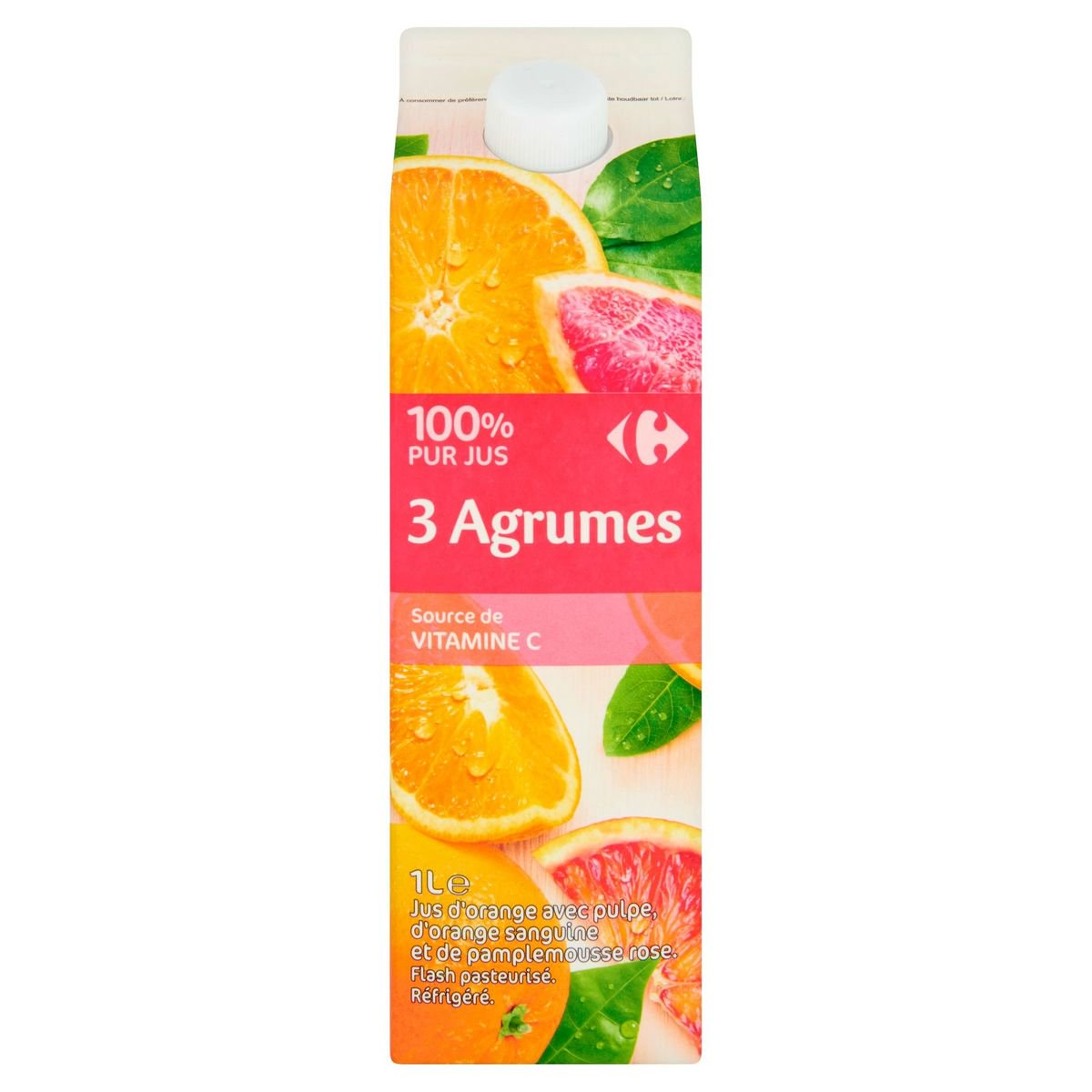 Carrefour 100% Pur Jus 3 Agrumes 1 L