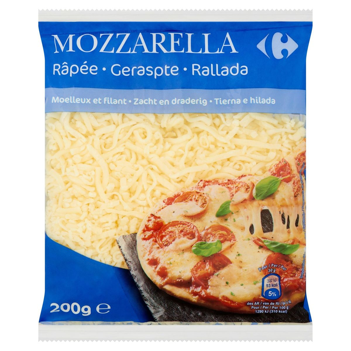 Carrefour Mozzarella Râpée 200 g