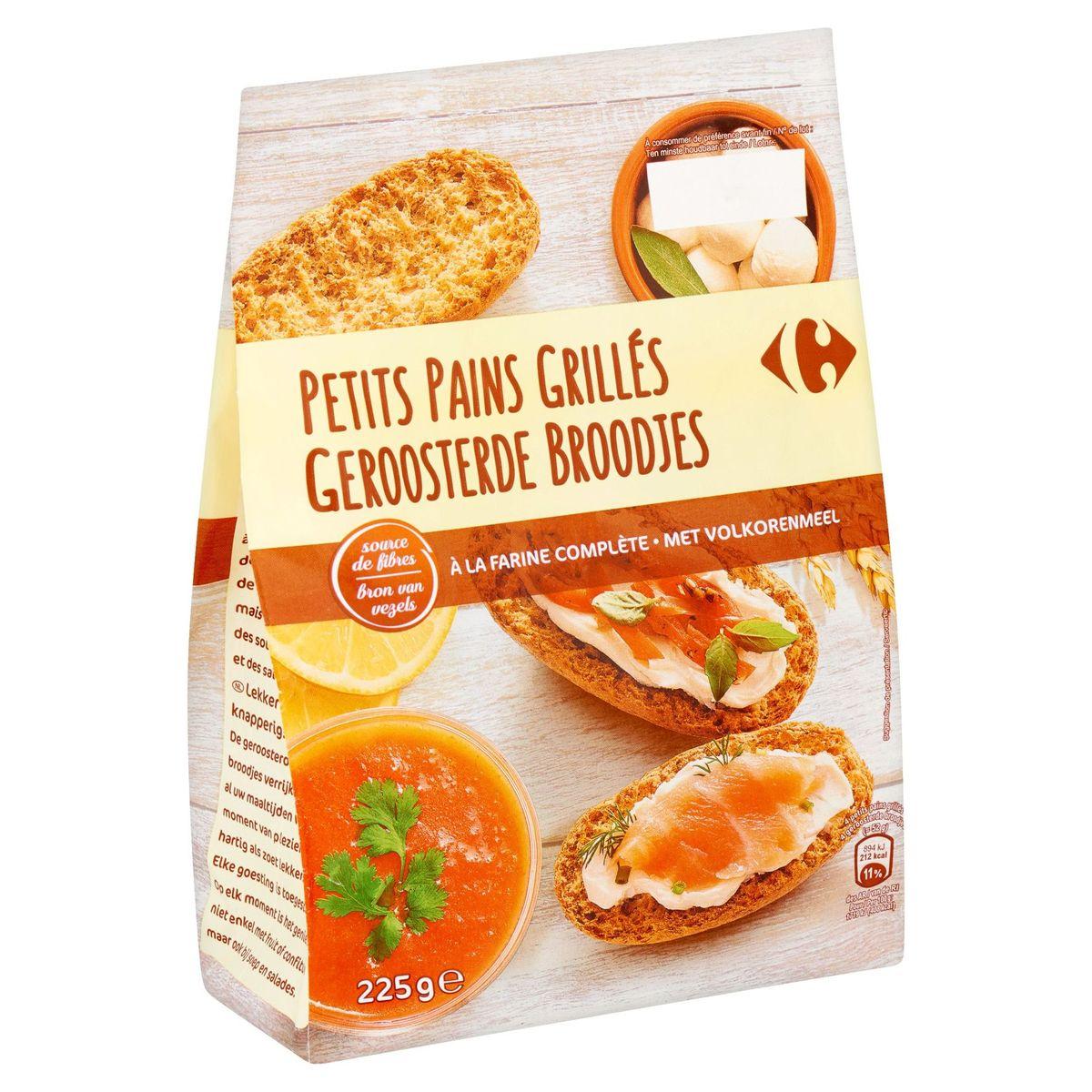 Carrefour Petits Pains Grillés à la Farine Complète 225 g