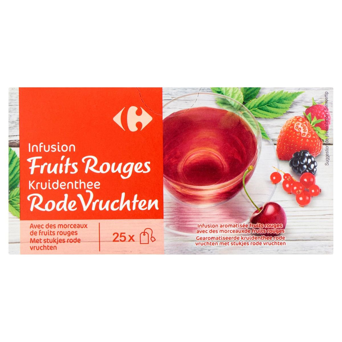 Carrefour Infusion Fruits Rouges 25 x 1.6 g