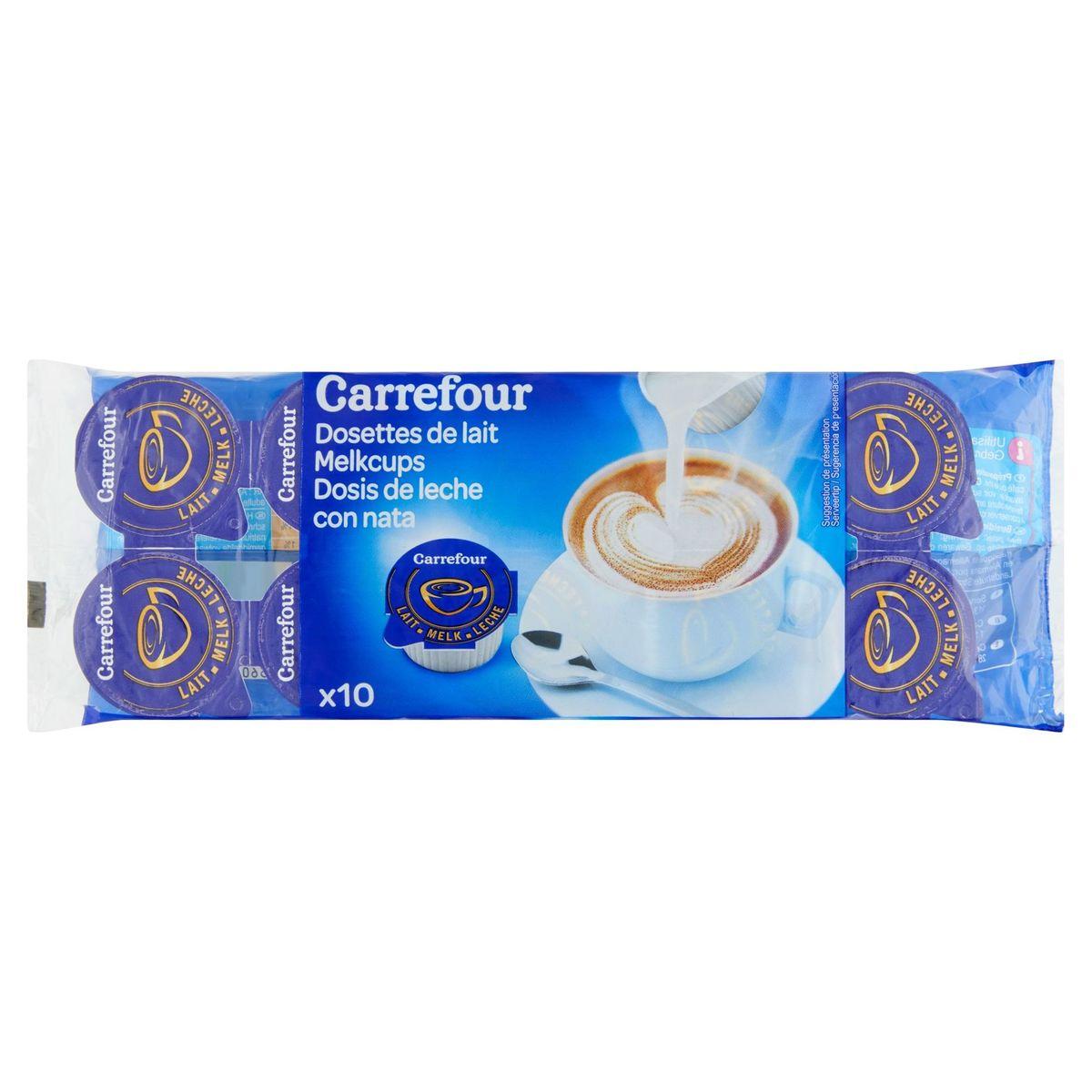 Carrefour Melkcups 10 x 9.7 ml