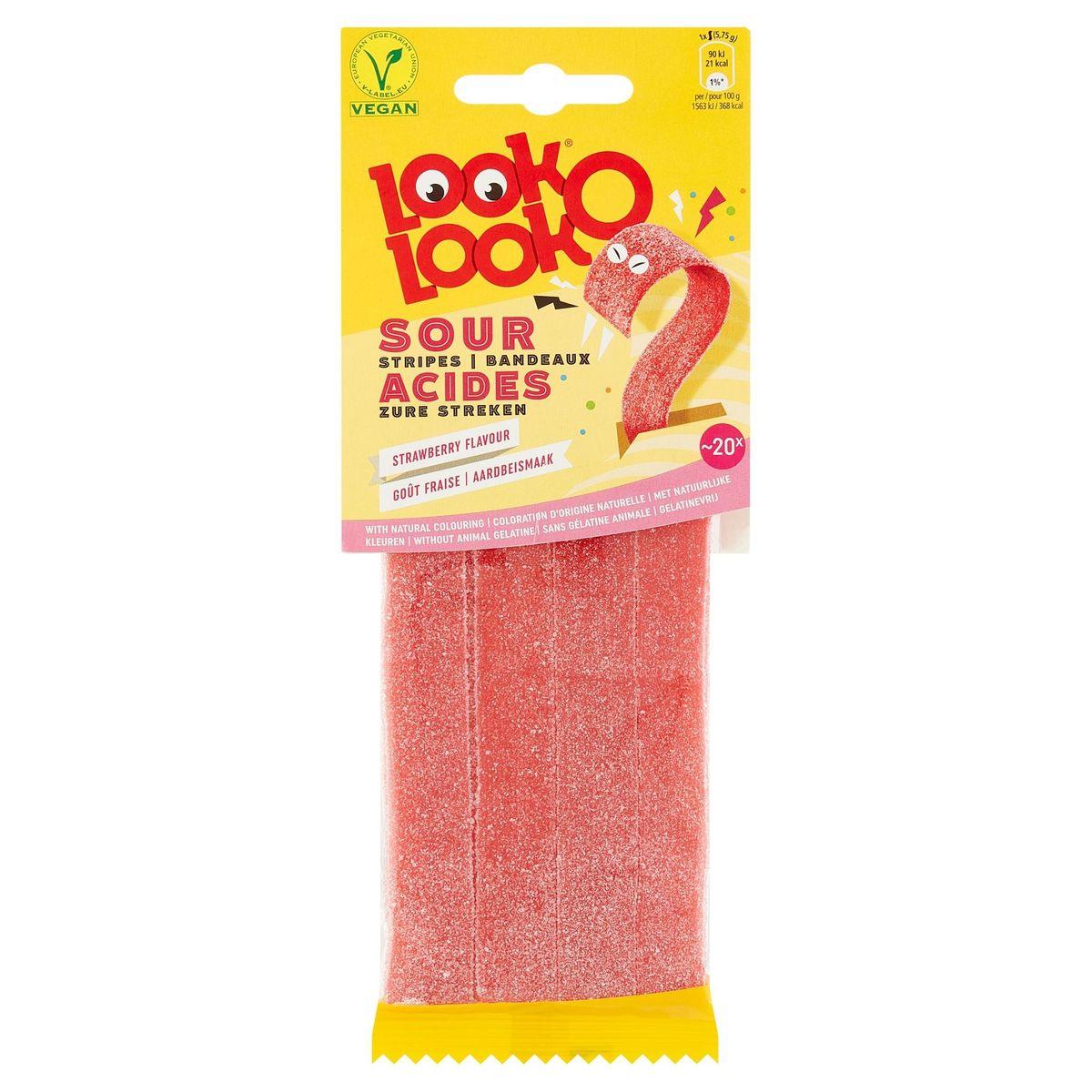 Look-O-Look Acides Bandeaux Goût Fraise 115 g