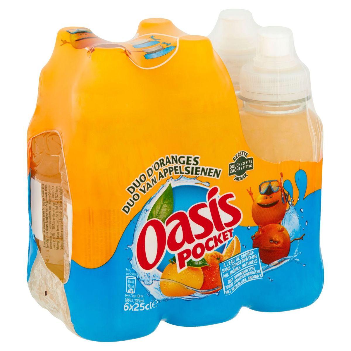 Oasis Pocket Duo van Appelsienen 6 x 25 cl