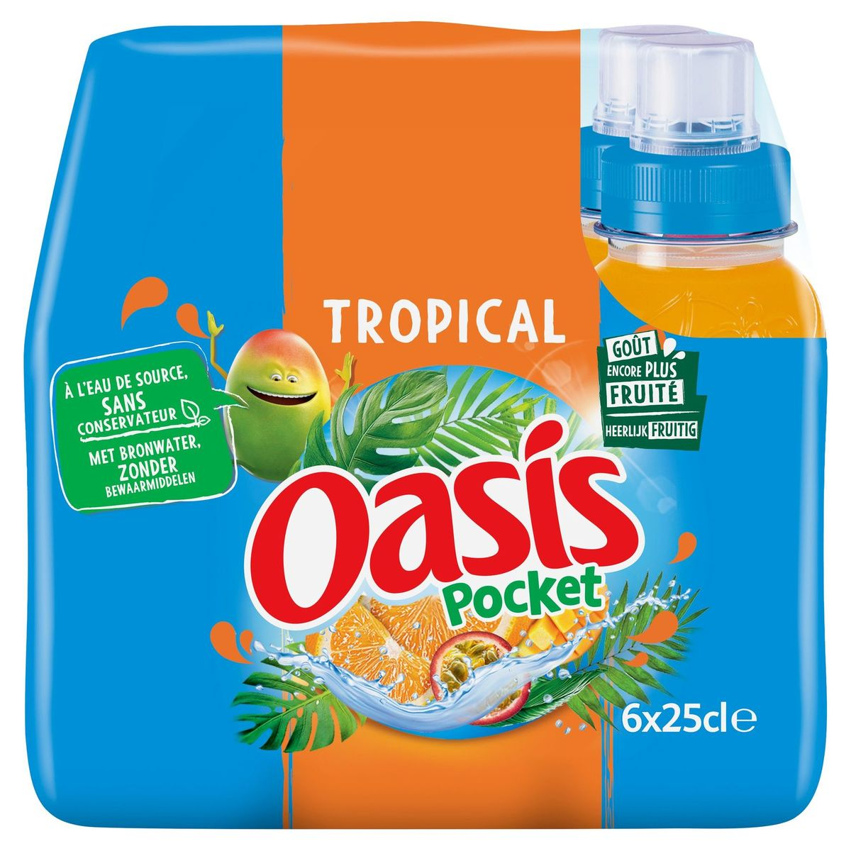 Oasis Pocket Tropical 6 x 25 cl