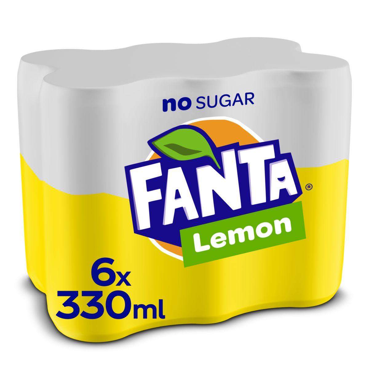 Fanta Zero Lemon sleekcan 330ml x 6