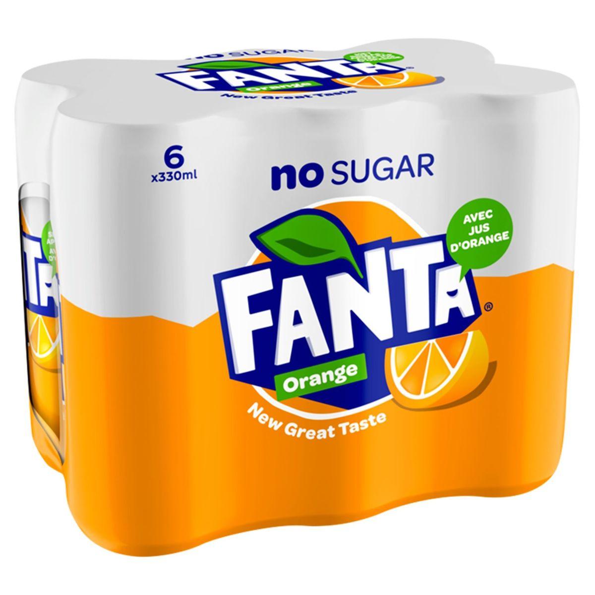 Fanta Zero Orange sleekcan 330ml x 6