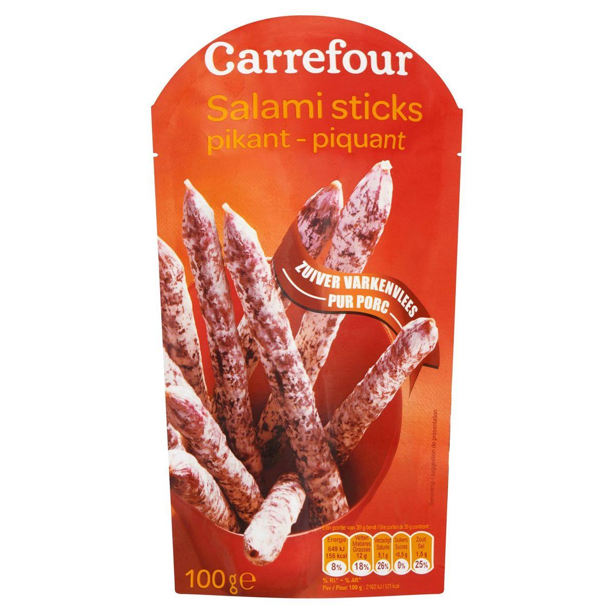 Carrefour Salami Sticks Pikant 100 g