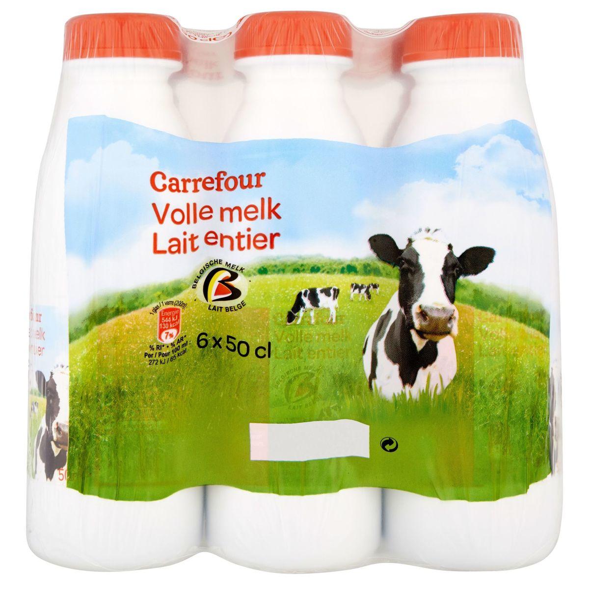 Carrefour Lait Entier 6 x 50 cl