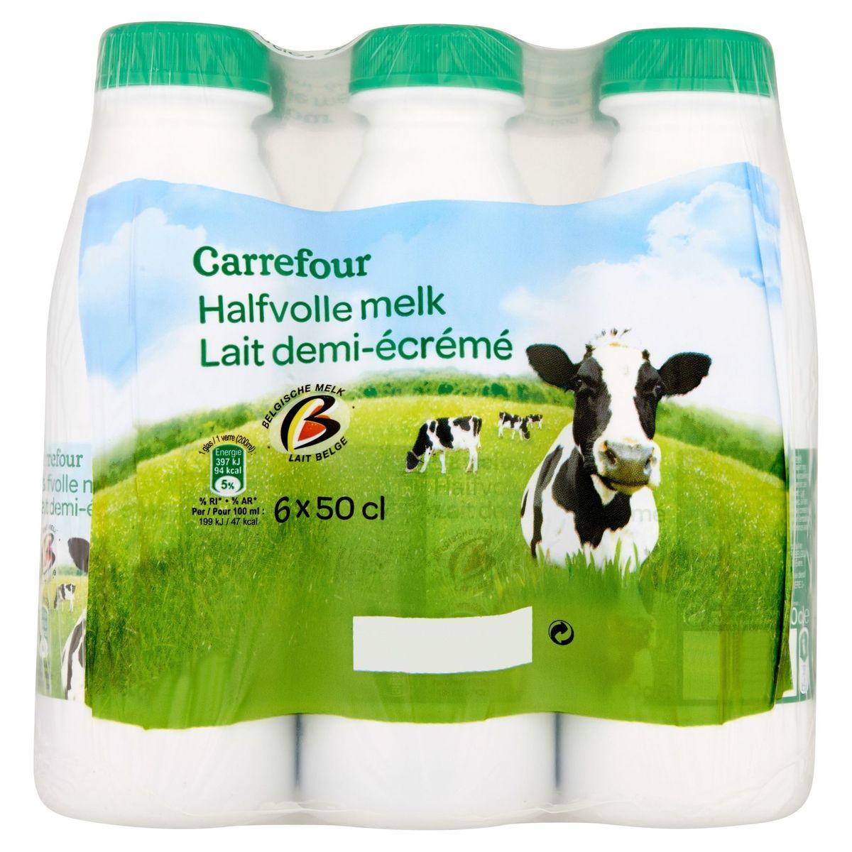 Carrefour Halfvolle melk 6 x 50 cl
