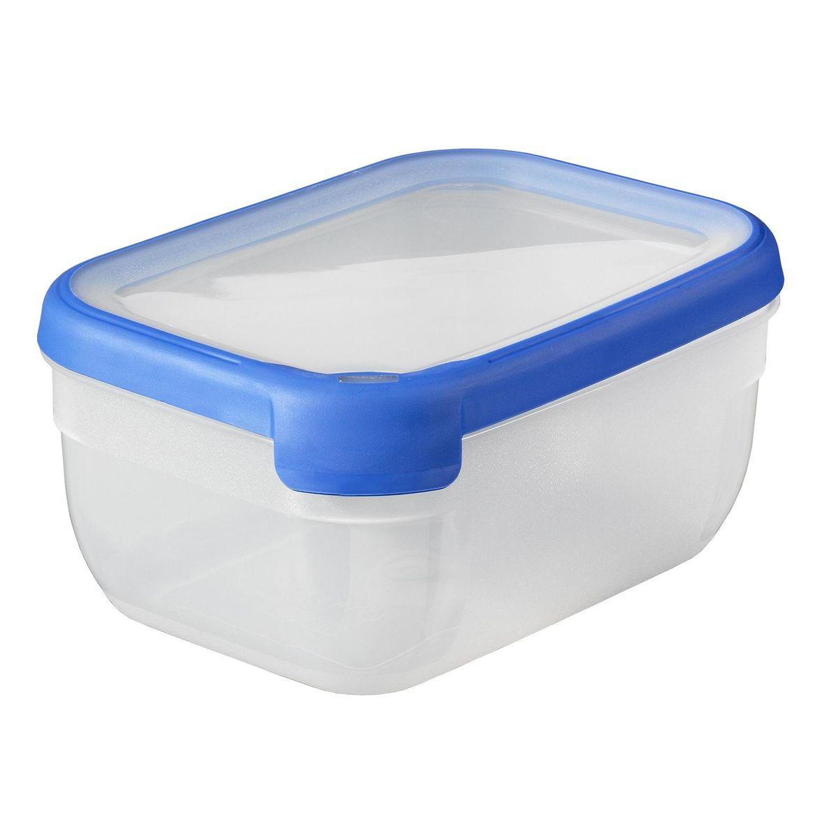 Curver Rechthoekige vershouddoos 1,8L - Transparant / Blauw