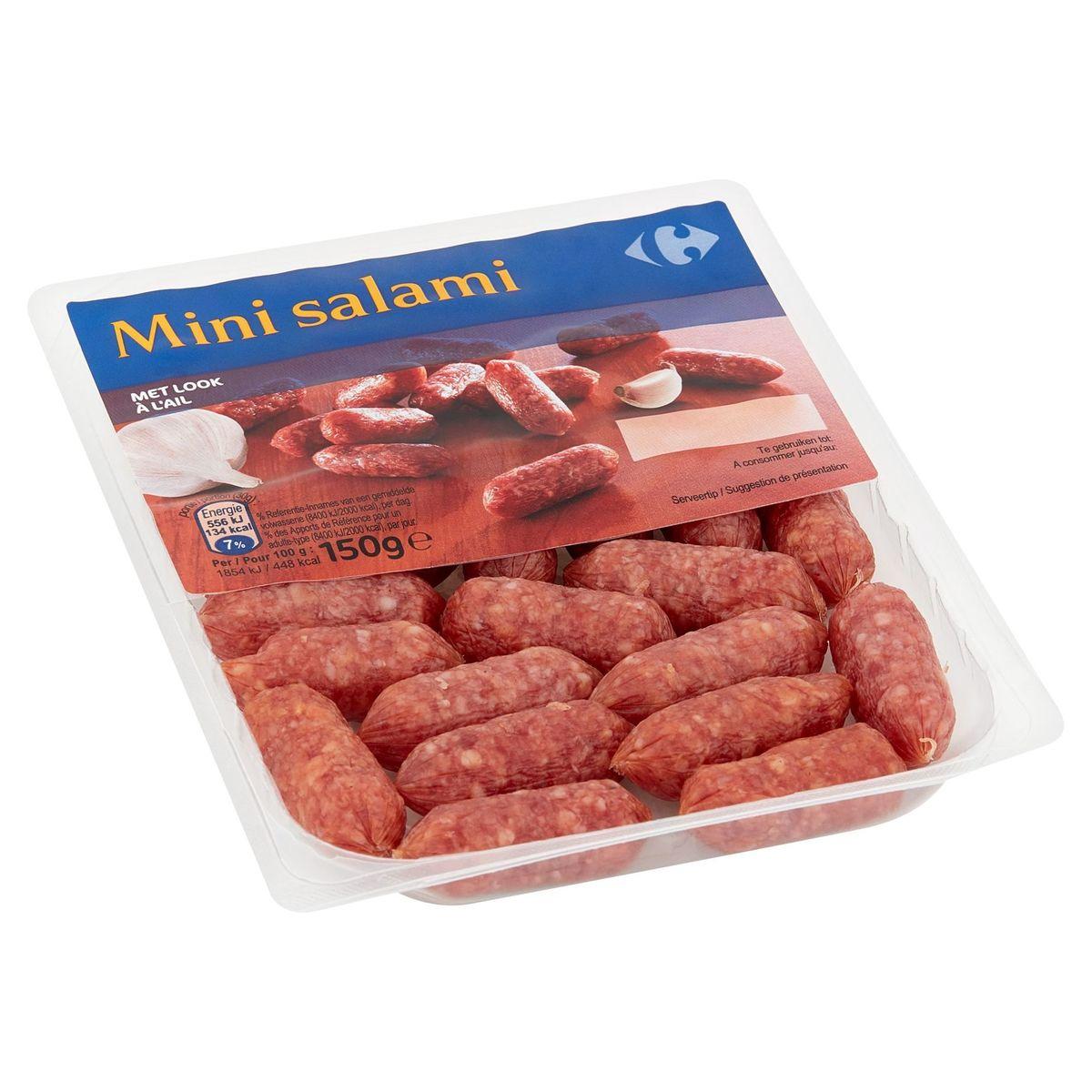 Carrefour Mini Salami à l'Ail 150 g