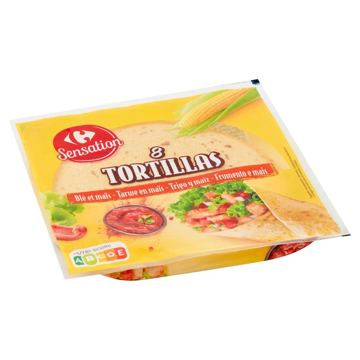 Carrefour Sensation Tortillas Tarwe en Maïs 8 Stuks 320 g