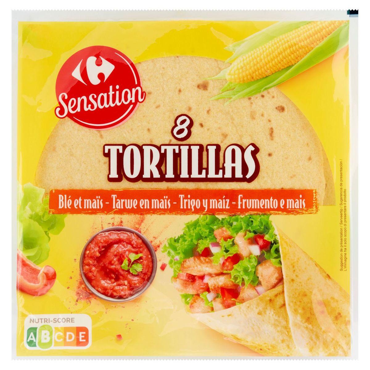 Carrefour Sensation Tortillas Blé et Maïs 8 Pièces 320 g