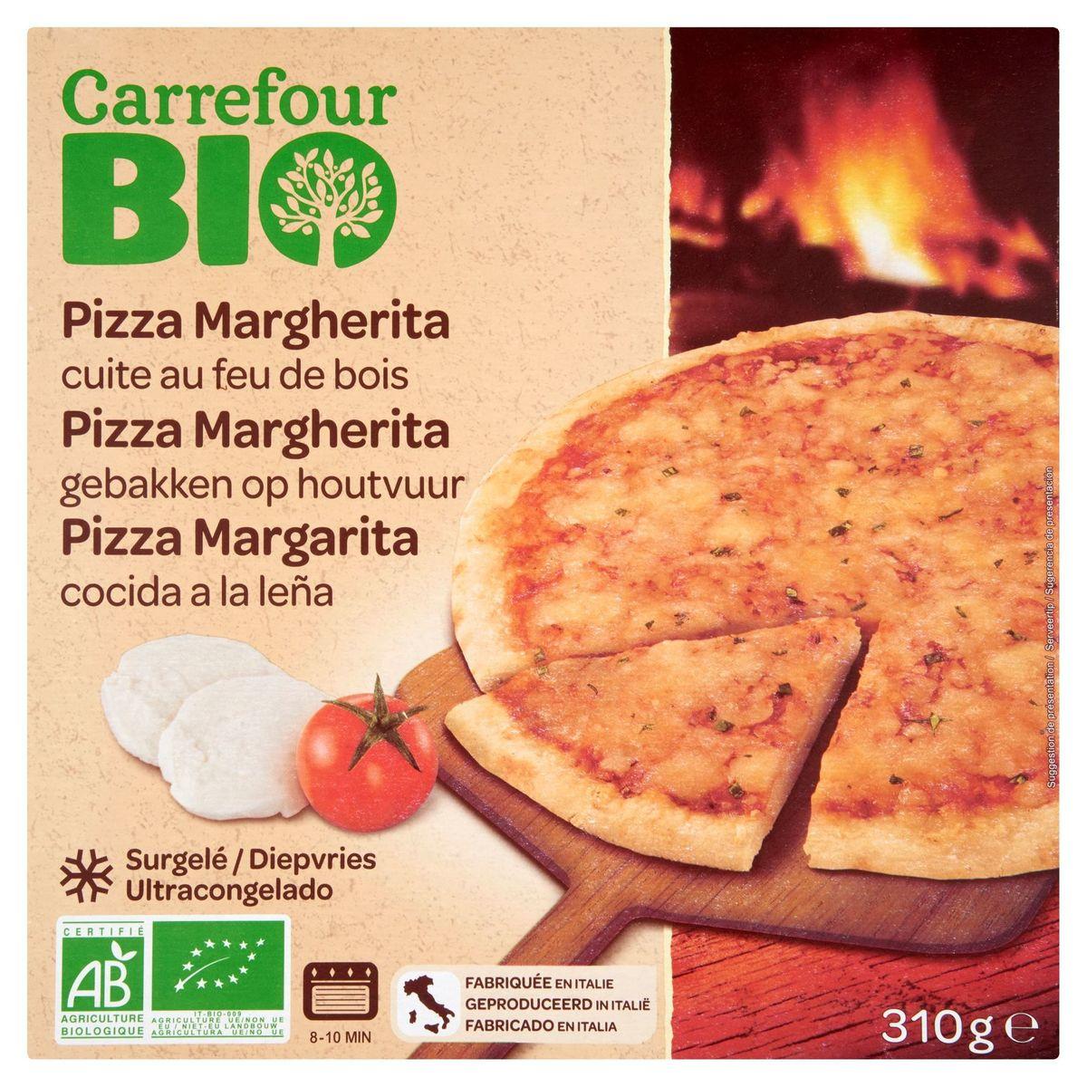 Carrefour Bio Pizza Margherita Gebakken op Houtvuur 310 g