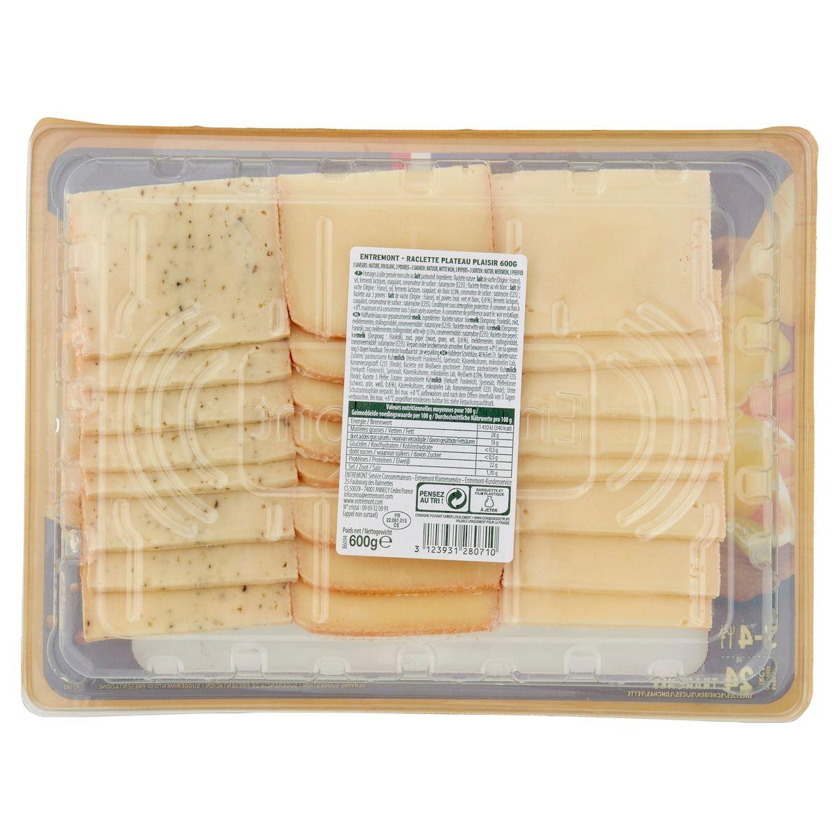 Entremont Raclette Plateau Plaisir 3 Smaken 600 g