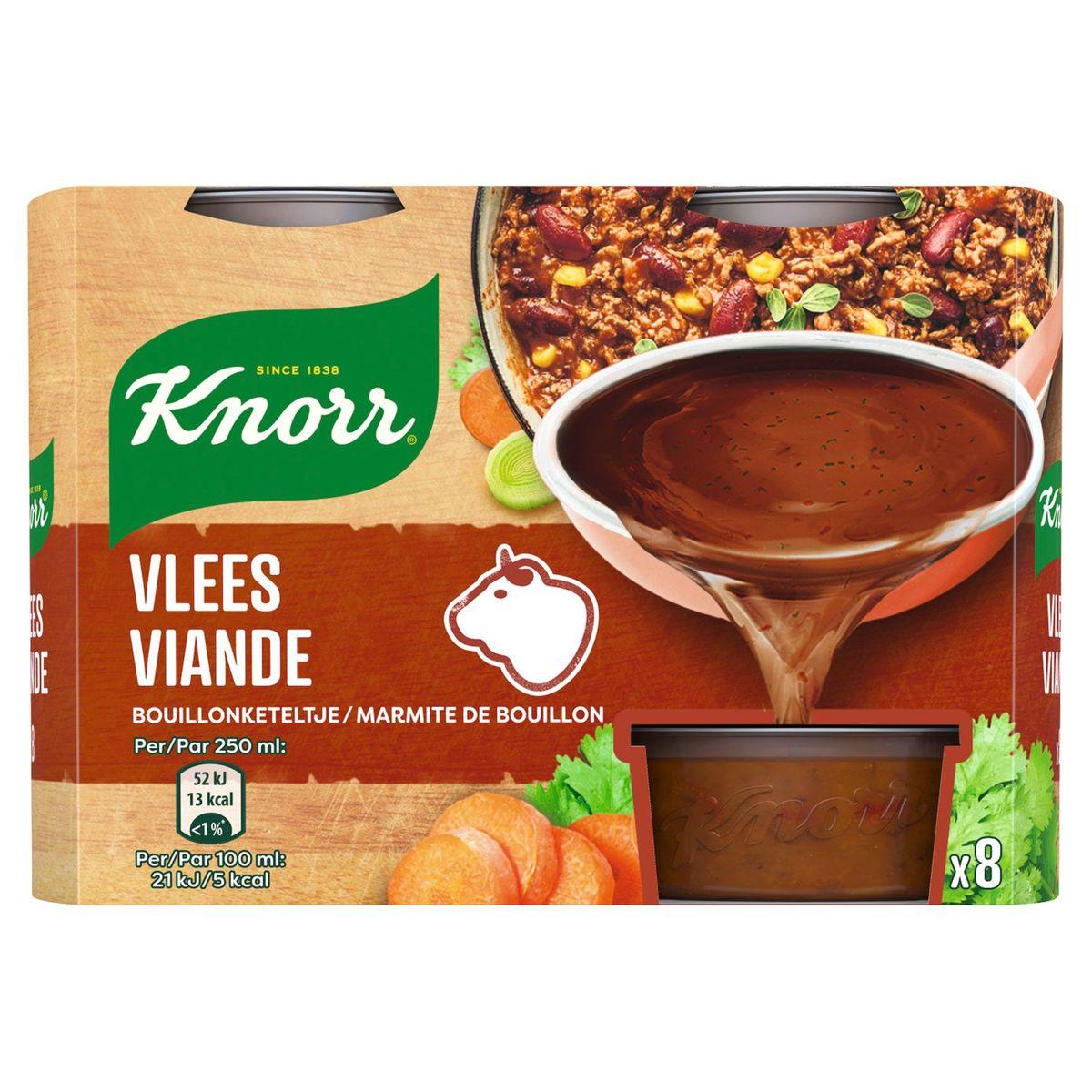 Knorr Keteltje Bouillon Vlees 8 x 28 g