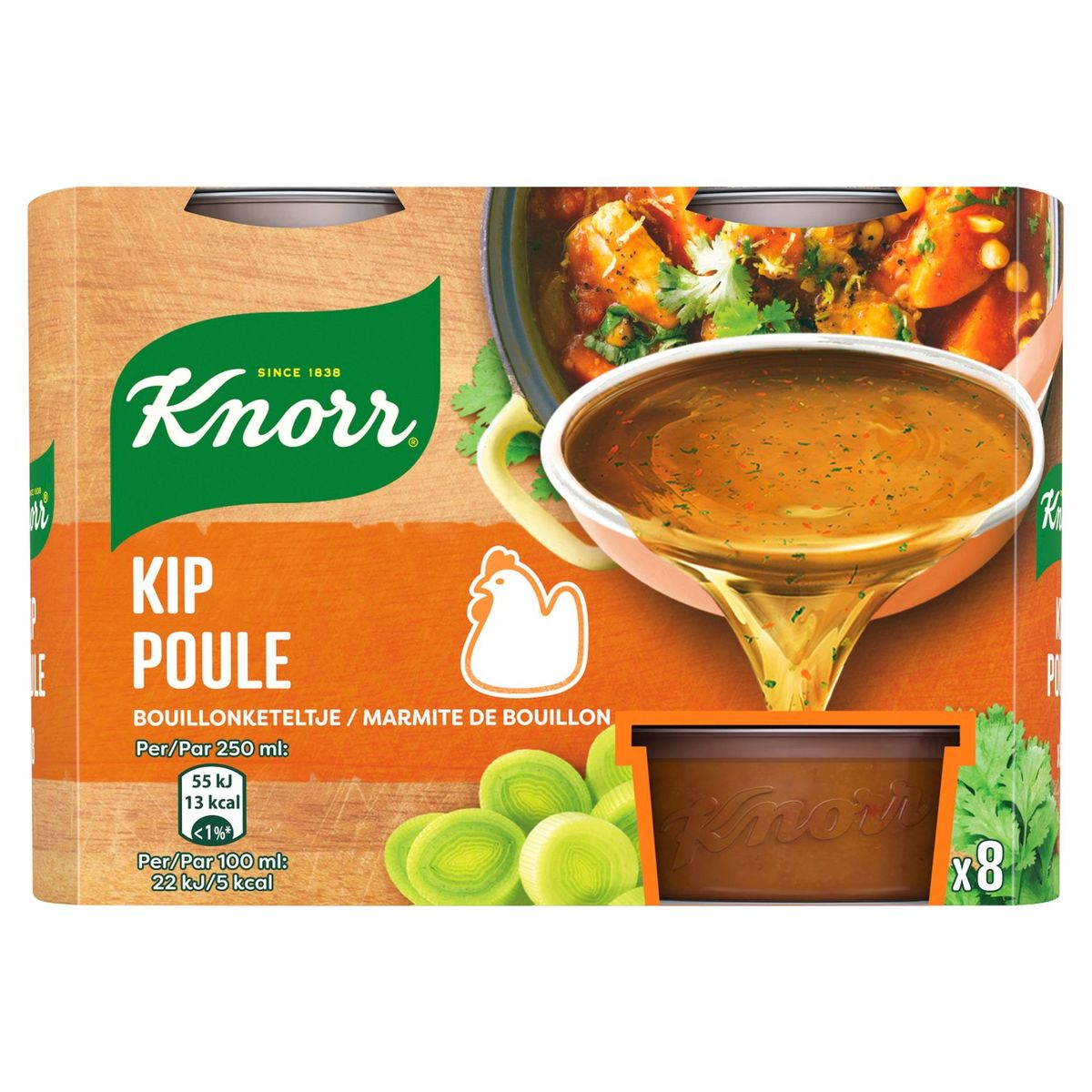 Knorr Keteltje Bouillon Kip 8 x 28 g
