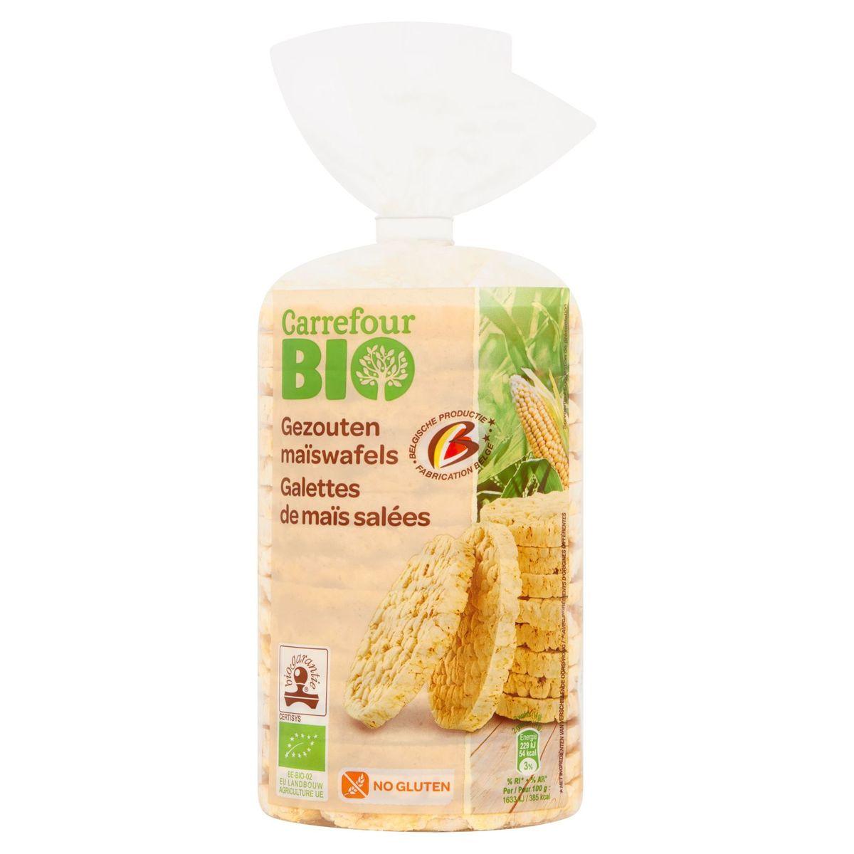 Carrefour Bio Galettes de Maïs Salées 120 g