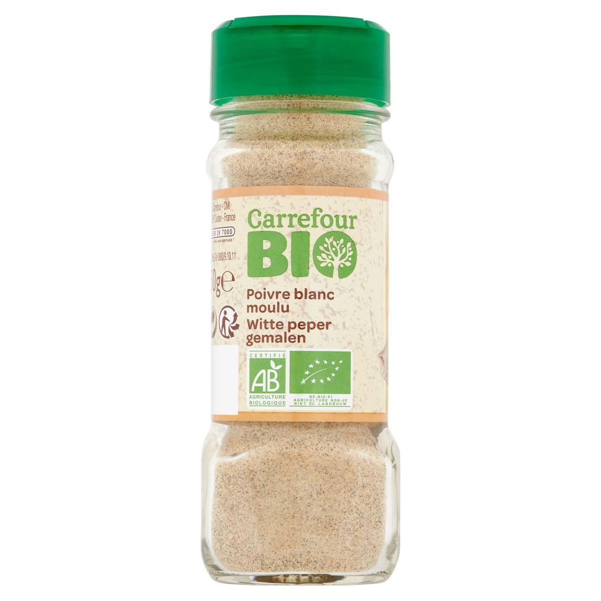 Carrefour Bio Poivre Blanc Moulu 50 g