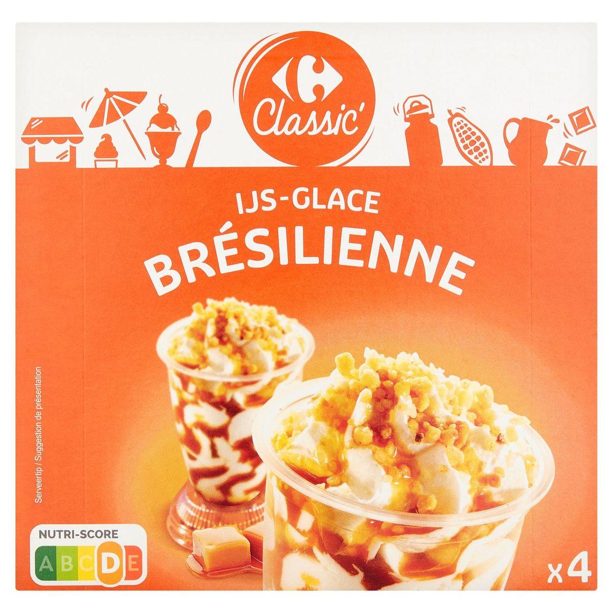 Carrefour Classic' Ijs Brésilienne 4 Stuks 336 g