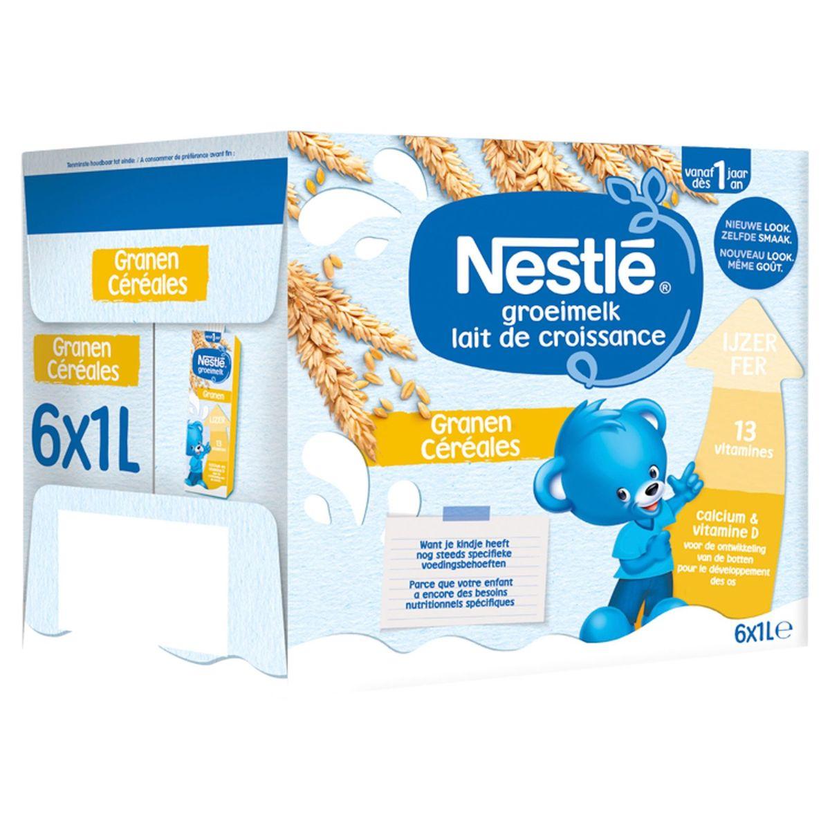Nestlé Lait de Croissance Céréales dès 1 An 6 x 1 L