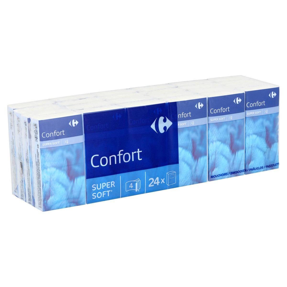 Carrefour Confort Zakdoeken 4-Laags 24 x 9 Stuks
