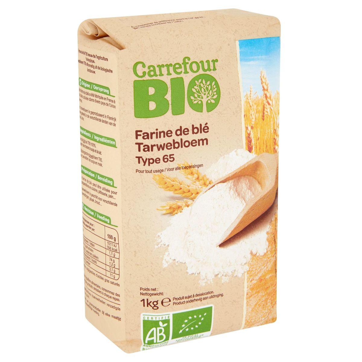 Carrefour Bio Farine de Blé Type 65 1 kg