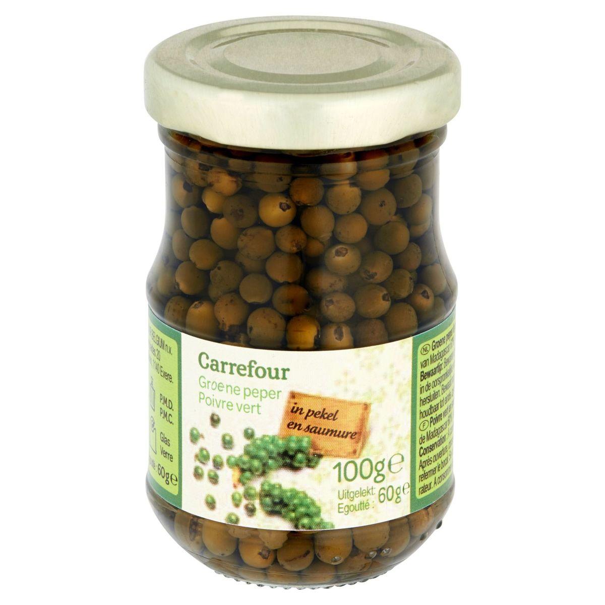 Carrefour Groene Peper in Pekel 100 g
