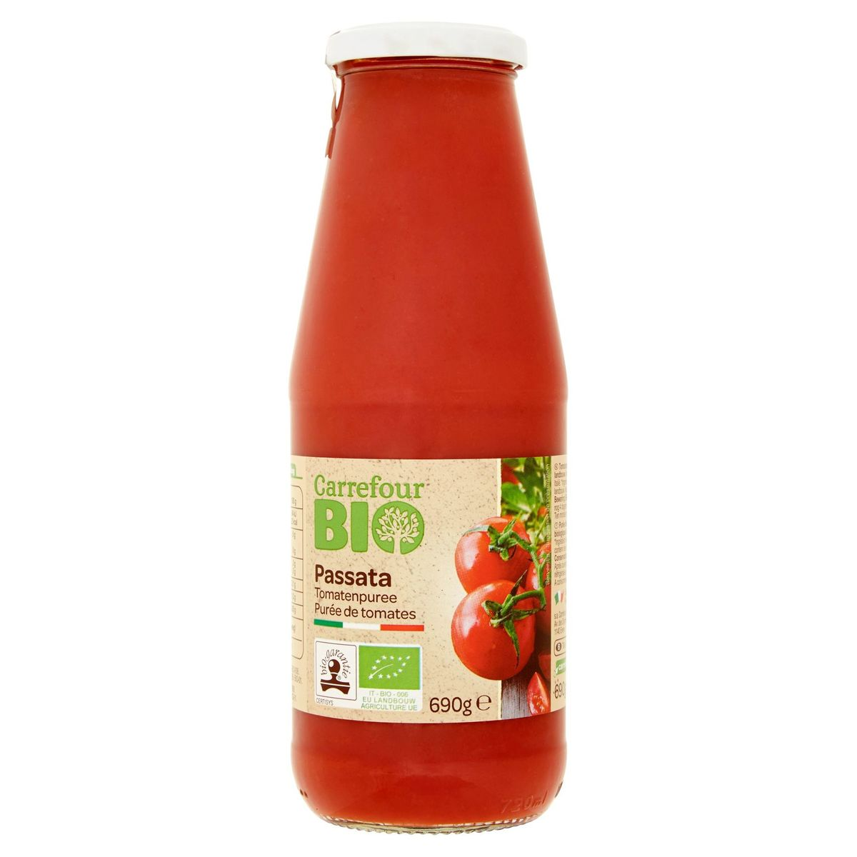Carrefour Bio Passata Purée de Tomates 690 g