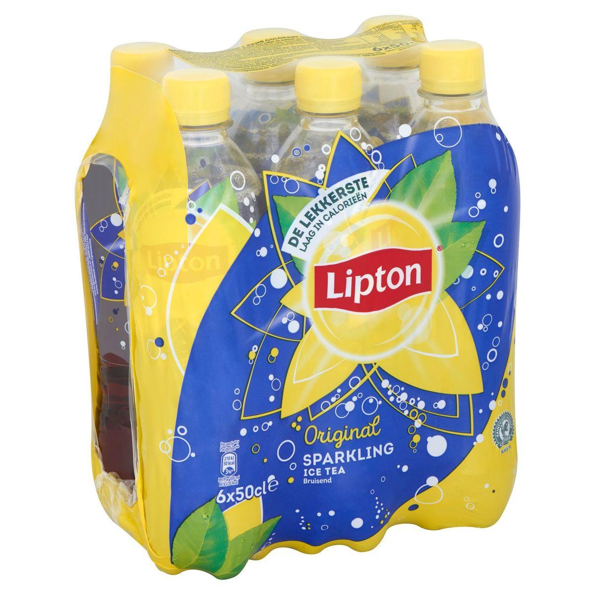 Lipton Iced Tea Thé Glacé Pétillant Original fiable en calories 6x50cl