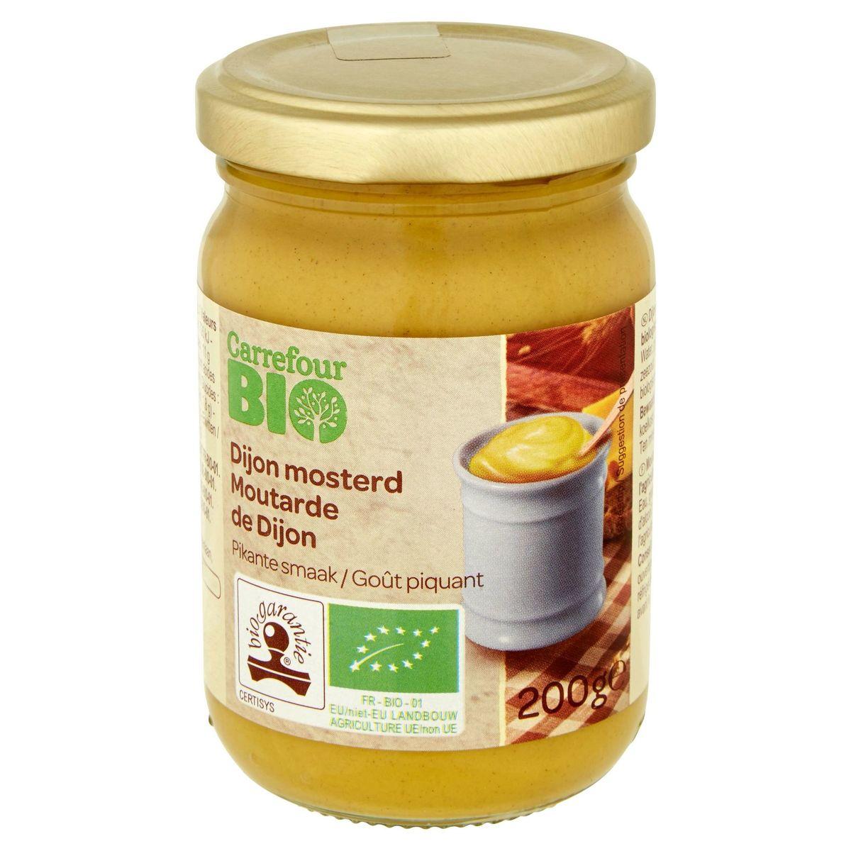 Carrefour Bio Moutarde de Dijon 200 g