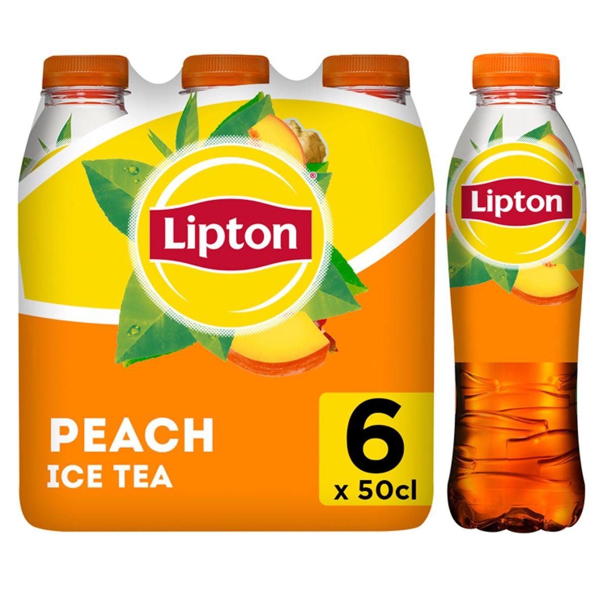 Lipton Iced Tea Thé Glacé Pêche fiable en calories 6 x 50 cl