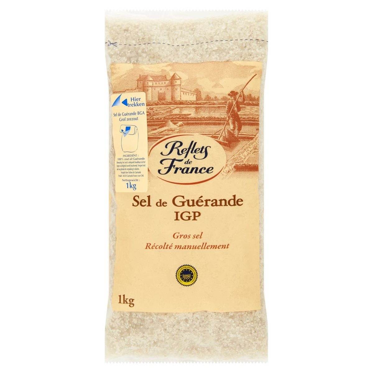 Reflets de France Sel de Guérande IGP Gros Sel 1 kg