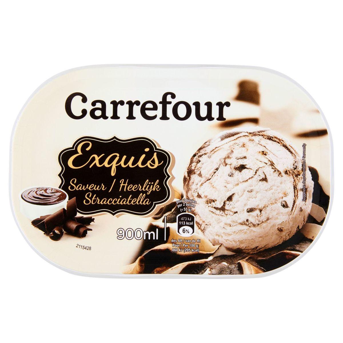 Carrefour Exquis Heerlijk Stracciatella 495 g