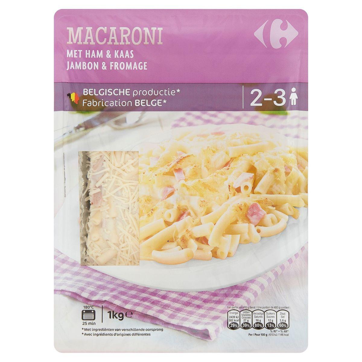 Carrefour Macaroni Jambon & Fromage 1 kg
