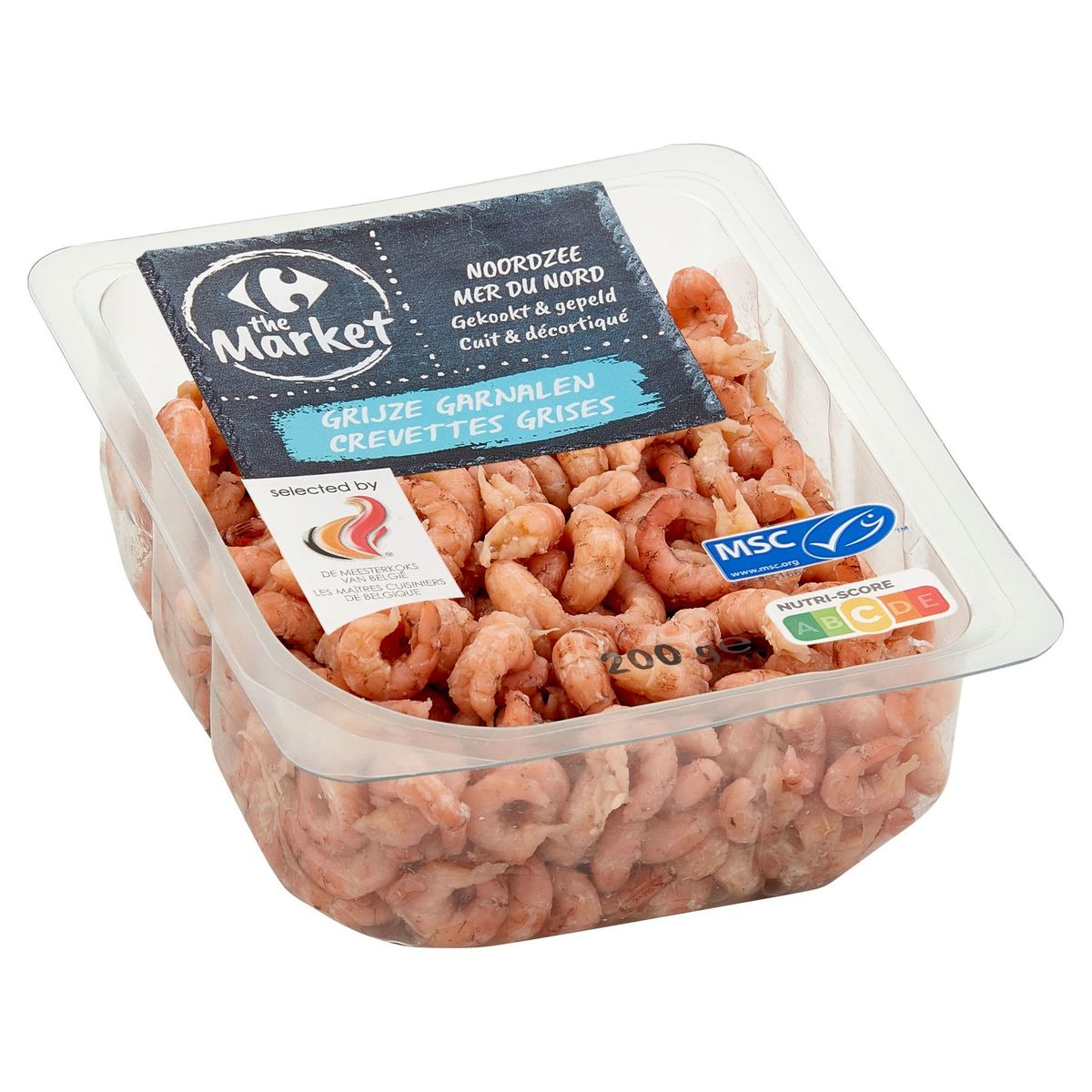 Carrefour Crevettes Grises Mer du Nord 200 g